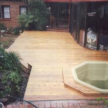 Terrasses de jardin en bois dur anti-dérapant naturel anti-dérapant en merbau