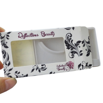 Folding Personalizado Branco Mink Lashes Box