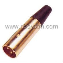 Gold 3P Mikrofonstecker