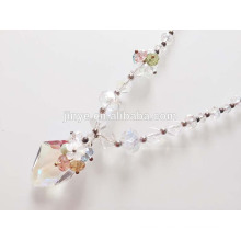 Fashion White Clear Crystal Pendant Necklace