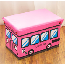 Pvc  Kids Storage Stool Pink