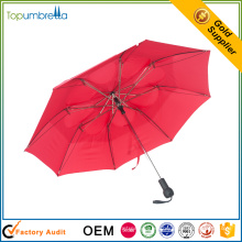 2017 auto open and close custom design fancy handle 2 fold umbrella