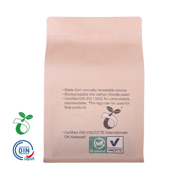 kilang china borong Compostable / Biodegradable Food Packaging Bag dengan Window