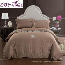 2017 Alibaba Fournisseur Égyptien Coton Lit Maison Longue Staple Coton Tissu Literie
