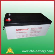 La batterie profonde de cycle de la batterie 12V250ah de gel d'acide au plomb scellée par prix usine pour le système d'alimentation solaire / vent / UPS