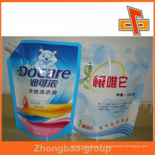 Hot Sealed Plastic Spout Bag Pouch For Liquid Fertilizer And Laundry Detergent