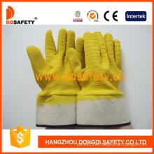 Guantes de látex de algodón amarillo (DCL412)