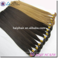 Last 12 Months Double Drawn Cuticle Aligned Piano color flat tip keratin hair extensions