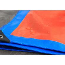 Blue/Orange Plastic Tarpaulin Cover