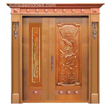 Alta Qualidade Handmade Copper Unique Double Door