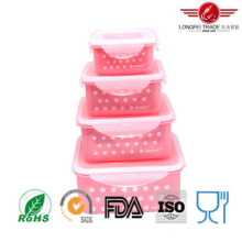 Contenedor de alimentos 4PCS Square Plastic Microondas