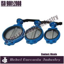 PN16 blue paint waffer butterfly valve
