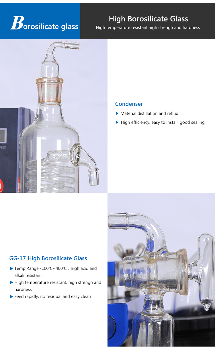 Borosilicate Glass Condenser Chemical Glass Reactor 20L
