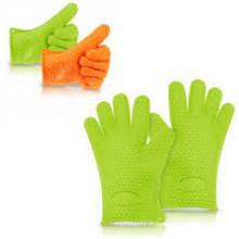 Heiße Küchen-Topfhalter Silikon-Ofen-Handschuhe