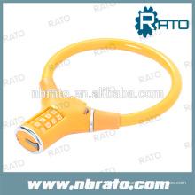 РБЛ-112 кабель велосипедный замок с кодовым Перестановный