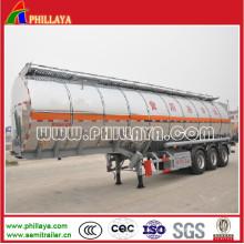 Semi Aluminium Tankwagen Anhänger für Wasser / Milchtransport