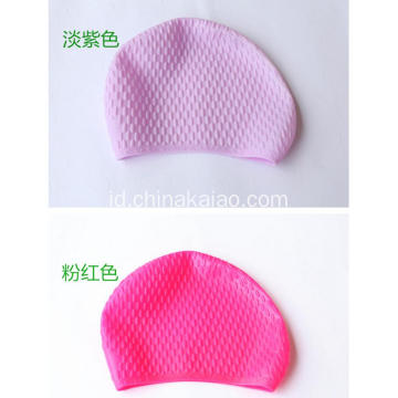 Pink Purple Silicone Solid Swimming Cap Hats