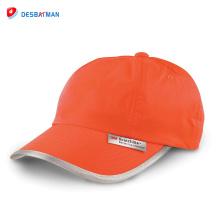 2017 nuevo producto de alta visibilidad sombrero reflexivo de la seguridad del deporte