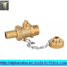 Válvula de bola de latón con tapón (a 0126)