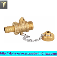 Standard Bore Brass Ball Valve with Cap (a. 0126)