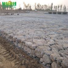 Malla de gaviones hexagonal trenzada trenzada de control de inundaciones