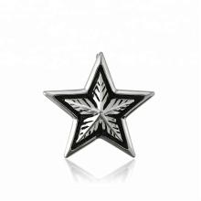33458 xuping spécial design mode acier inoxydable bijoux noir pistolet couleur cool étoiles forme pendentif