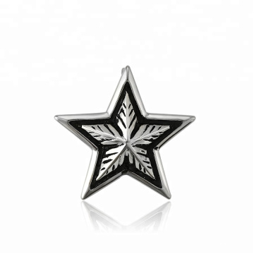 33458 xuping Special design fashion Stainless Steel jewelry black gun color cool Stars shape pendant