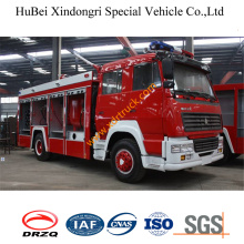 7ton HOWO Dry Powder Foam Water Fire Truck Euro3