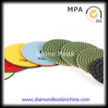 Almofadas de polimento de diamante de pedra para piso de mármore de granito