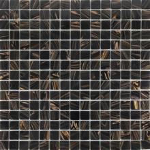 Chocolate color gold line European mosaic tiles