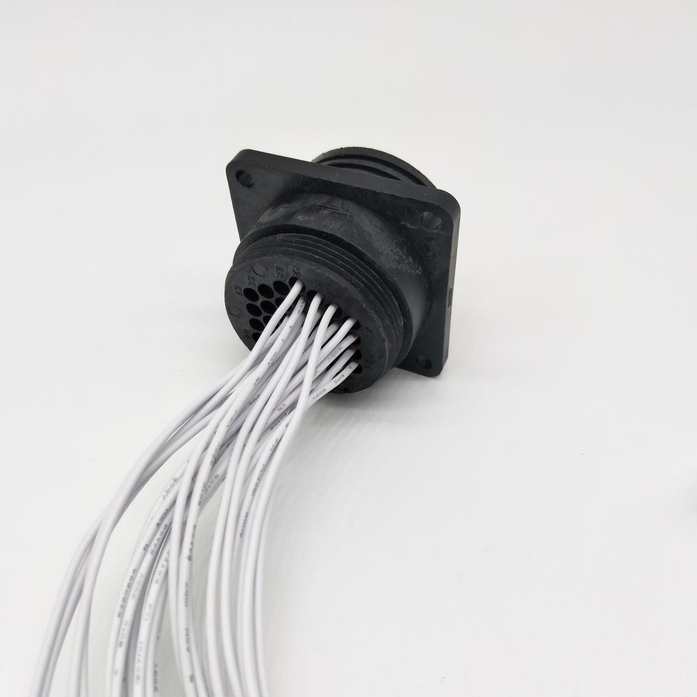 Cable conector macho circular de 37 pines