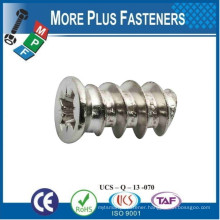 Made in Taiwan Flat Countersunk Head Euro Screw