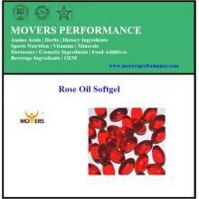 Extraits purs de haute qualité Softgel d'huile de rose