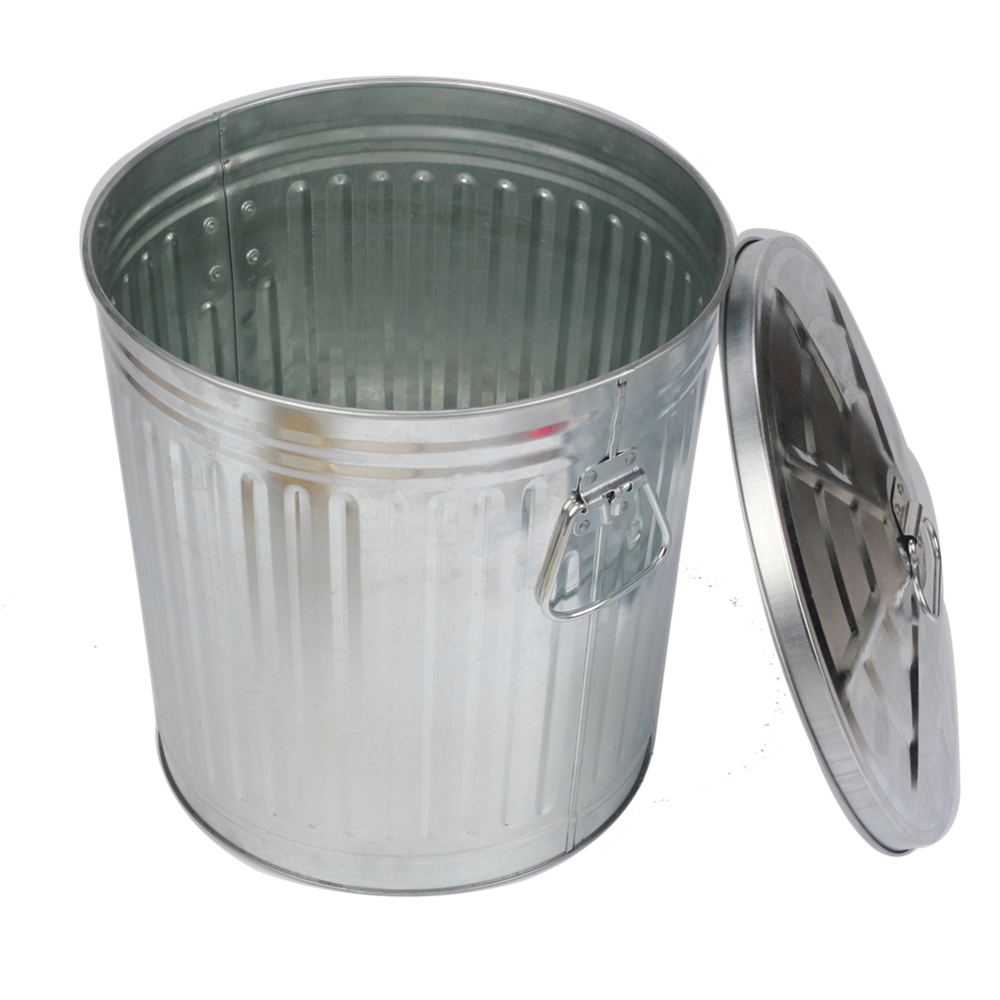 55l Multi Purpose Trash Metal Outdoor Dustbins