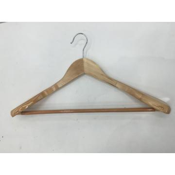 Cheap wooden hangers for clothes Antiskid wood suit hanger