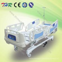 Lit d'hôpital électrique électrique à cinq fonctions