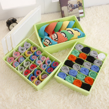 Plastic 3pcs Underwear Bra Socks Storage Box Set