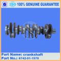 Komatsu excavator spare parts komatsu PC300-7 crankshaft 6742-01-1570