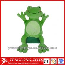 Новый тип фаршированные плюшевые лягушки рук куклы