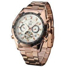 Alloy Case de aço inoxidável Men Gold Watch