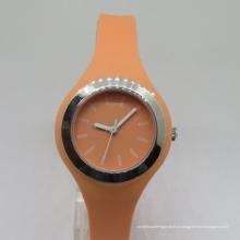 Luxo Japão Movt Sikucone meninas de plástico relógio de pulso