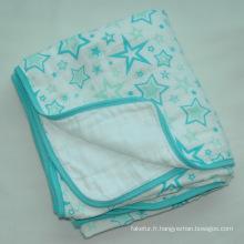 100 % coton doux mousseline Baby Blanket CB-Cm15011