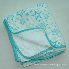 100% Cotton Soft Muslin Baby Blanket CB-Cm15011