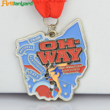 Custom Engraved Medals With Soft Enamel