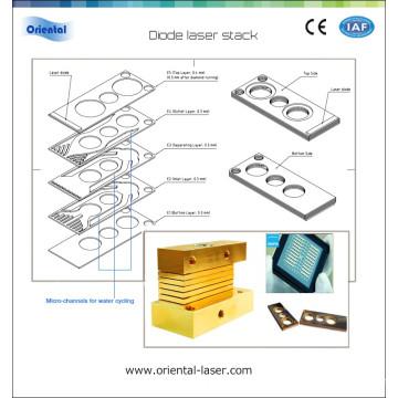 unmounted laser diode bars 500w 808nm laser stack/810nm laser diode module