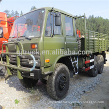 dongfeng flat head military 6*6 trucks for sale EQ2082 with tend and winch