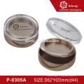 P-0305A круглый форма пустой компактный порошок кейс косметика упаковка