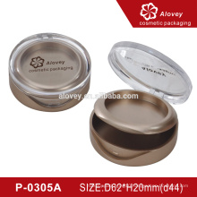 P-0305A round shape empty compact powder case cosmetics packaging