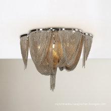 Modern Vintage Aluminum Chain Chandelier Light Fixture Flush Mounted Pendant lamp