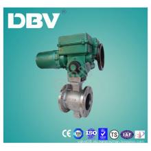 Válvulas de bola del tipo CF8m V del acero inoxidable de la aprobación del Ce